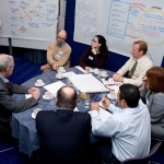 Large groups of people can be engaged through the use of graphic recording